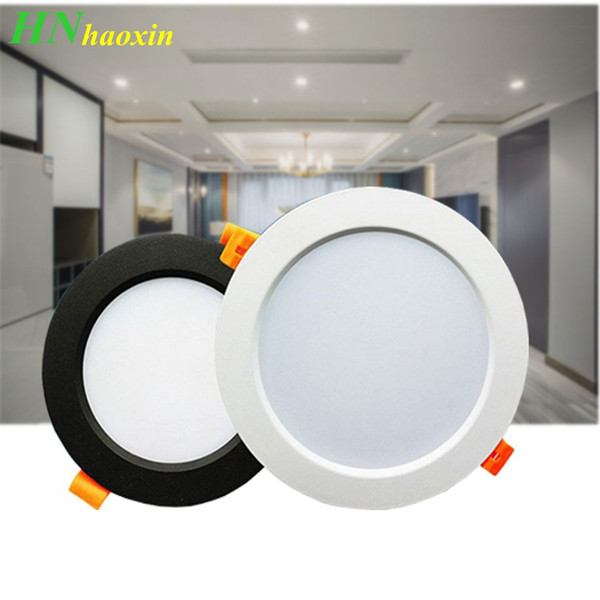 best selling HaoXin LED Downlight 3W 5W 7W 9W 12W 15W Round Recessed Lamp 220V Led Bulb Bedroom Kitchen Indoor LED Spot Lighting