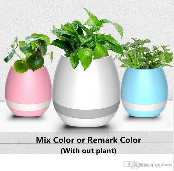 30pcs Smart Bluetooth Music Flowerpot Touch Wireless Speaker LED Light Colorful Creative Music Playing Flower Pots