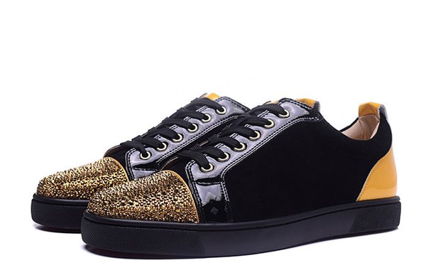 2019 Women Studded Spikes men trainers Shoes Top quality NEW Designer Flats Genuine Leather