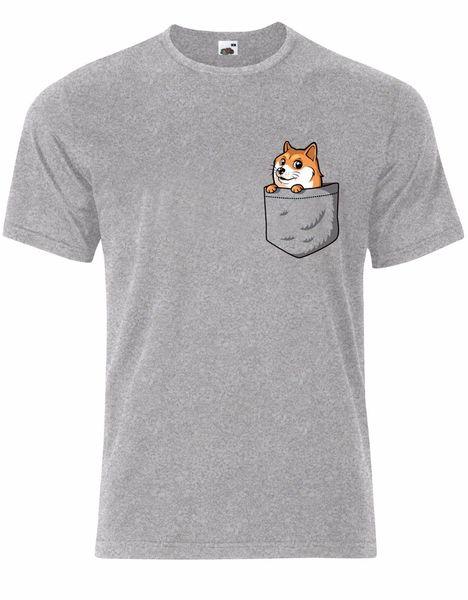 Cute Dog Corgi in a Pocket Mens Tee Shirt Top AK48 Brand shirts jeans Print Classic Quality High t-shirt