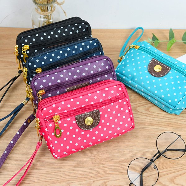 Multi-color Korean Style Women's Wallet Credit Card/Mobile Phone Holder Canvas Handbag Large Capacity Ladies Clutch Coin Purse