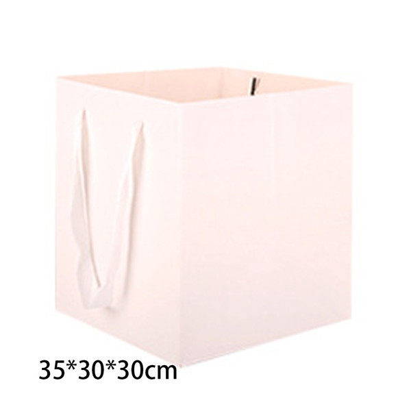 6pcs Multifunctional Birthday Gift Waterproof Paper Bag Flowers Candy Bread Square Bottom With Ribbon Handles Shopping Packing