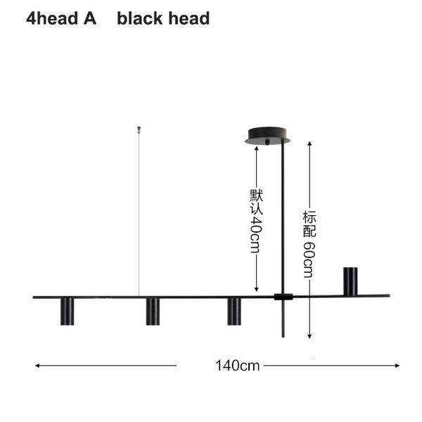 4 헤드 블랙