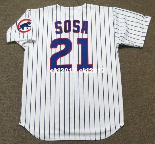 Cheap Custom SAMMY SOSA Chicago Stitched 1998 Majestic Vintage Home Baseball Jersey Retro Mens Jerseys Running