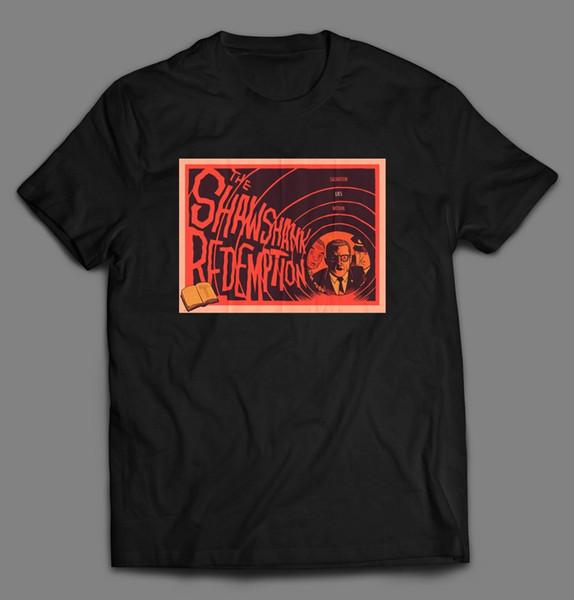 Shawshank Redemtion Kurtuluş Oldskool Özel Sanat Gömlek Içinde Yalan * Tam Ön * Tee Gömlek Erkekler Boy Online Tasarımcı Kısa Kollu Crewneck Cot