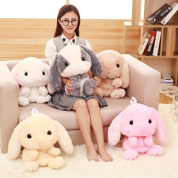 Japonais Lolita Peluche Lapin Longue Oreille Lapin Sac Écureuil Poupée Hamster En Peluche Jouets Enfants Sac À Dos Y19070103