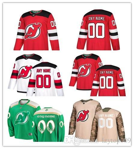 8160a381626 custom 2019 Men's New Jersey Devils Fanatics Branded Red Home Breakaway  Custom women kids Jersey