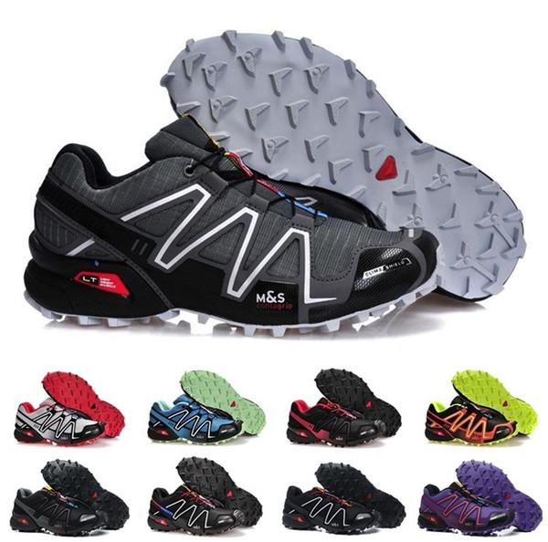 Hız Çapraz 3 CS Erkekler Kadınlar Açık Koşu Ayakkabıları SpeedCross Run Siyah Kırmızı Mavi Tasarımcı Trainer Erkek Spor Açık Havada Sneaker boyutu 36-46