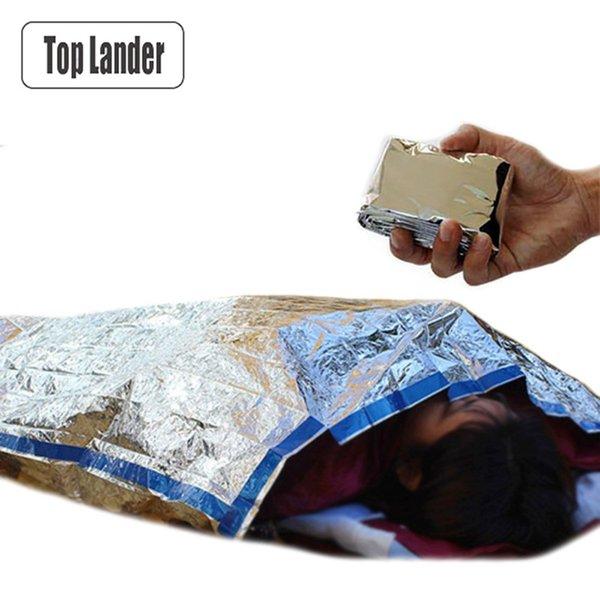 Saco de dormir de emergencia de supervivencia al aire libre Ejército militar Rescate portátil Lámina térmica Ultra ligero Saco de dormir para acampar 1 persona