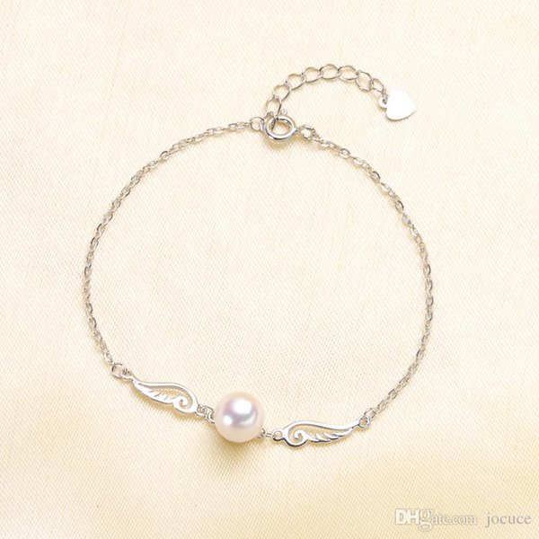 S925 Silver Plated Angel Bracelet Pearl Accessories Fashion Style for DIY Women Gift Jewellery