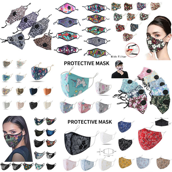 best selling Fashion face mask Breathing Valve Anti Dust Face Mask Folding Without Valve Protective Dustproof PM2.5  face masks Free Shipping