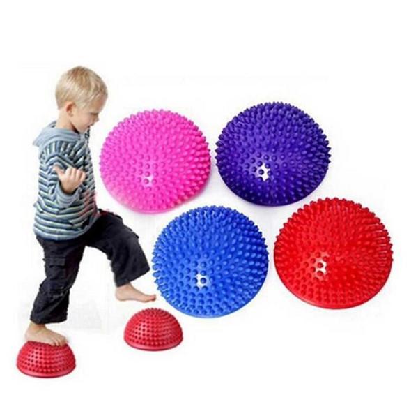 point massage balance gym ball exercises training half hedgehog ball foot massage Durian balls yoga sports pads Fitness Supplies wholesale