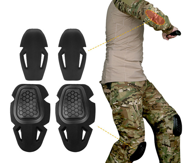 top popular Tactical Knee and Elbow Pads Protective Gear Set for G2 G3 G4 Combat Uniform Paintball Hunting Airsoft Outdoor Sport Accessories Top quality 2021