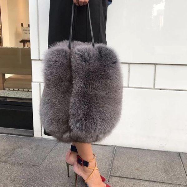 2018 New Winter Faux Fur Women Handbags Luxury Handle Totes Bag Designer Clutch Purse Ladies shoulder Bag Bolsa Feminina D19011204