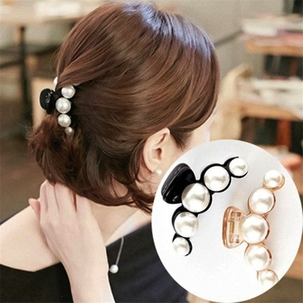 Fashion Pearl Women Girl Hair Clip Claw Barrettes Accessory For Valentine's Day Barrettes Girls Headbands Lady Hair clips