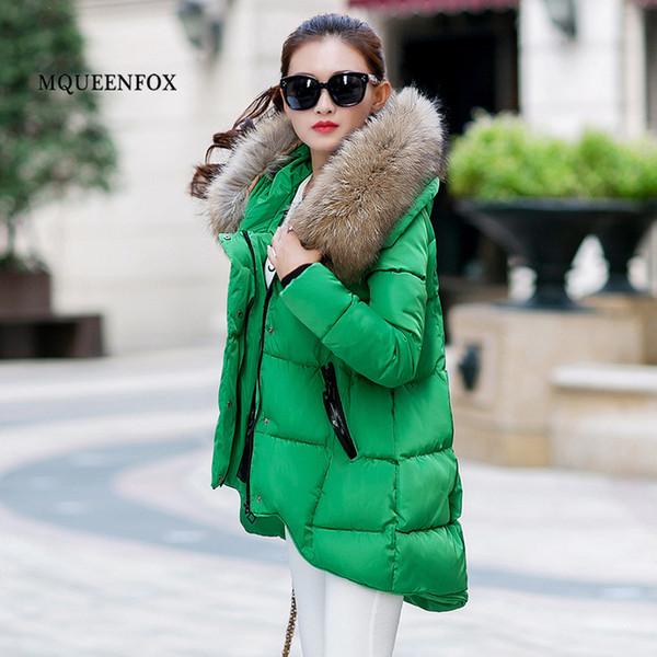 2019 New Winter Down Jacket Women Winter Warm Fur Collar Jacket Women Casual Loose Cotton parkas hiver femme Plus