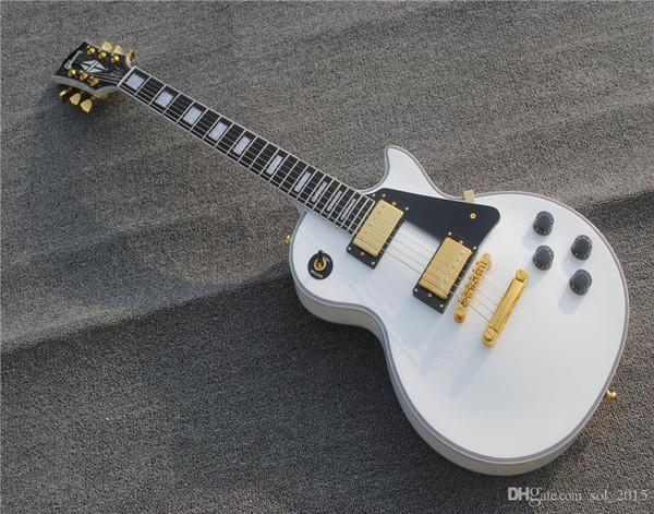 Free Shipping Custom Shop White Ebony fingerboard Frets Binding Electric Guitar Free Shipping