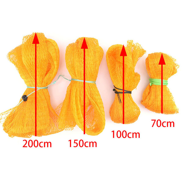 0.7m/1m/1.5m/2m Fishing Net Trap Folding Nylon Mesh Cast Accessories Simple Fish Bag Tackle Collapsible Fishing Tools