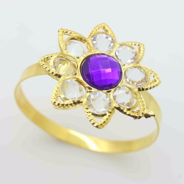 Acrylic Diamond Design Napkin Ring Dinner Decoration for Wedding Receptions Gifts Gold Silver Napkin Holder 10pcs