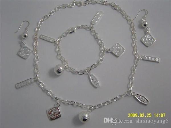 Acheter Cadeau De Noël Collier Damour En Argent 925 Bracelet Ensemble Déclaration De Mariage Bijoux Pendentif Coeur Colliers Bracelet Ensembles 2