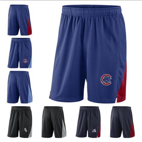 Nuevo 2020 Hombres Cubs Sox Azul marino Negro Franquicia Pantalones cortos de rendimiento Talla M L XL XXL XXXL Pantalones cortos de béisbol Cubs Sox Jerseys