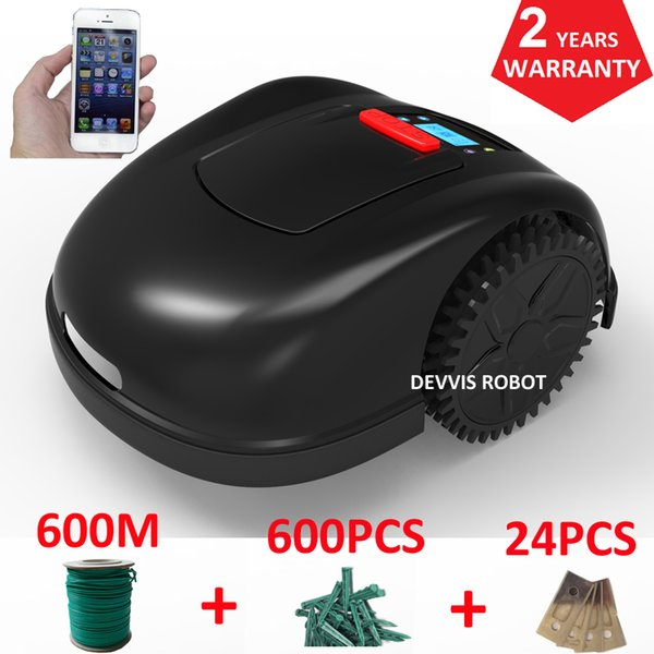 Two Year Warranty WIFI APP Contorl Intelligent Robot Lawn Mower Grass Trimmer With 600m+600pcs pegs+24pcs blade