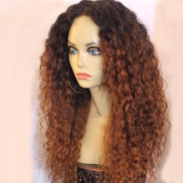 1B 30 Color Blonde Lace Front Wig Brazilian Curly Remy Ombre Full Lace Human Hair Wigs Pre Plucked Bleached Knots