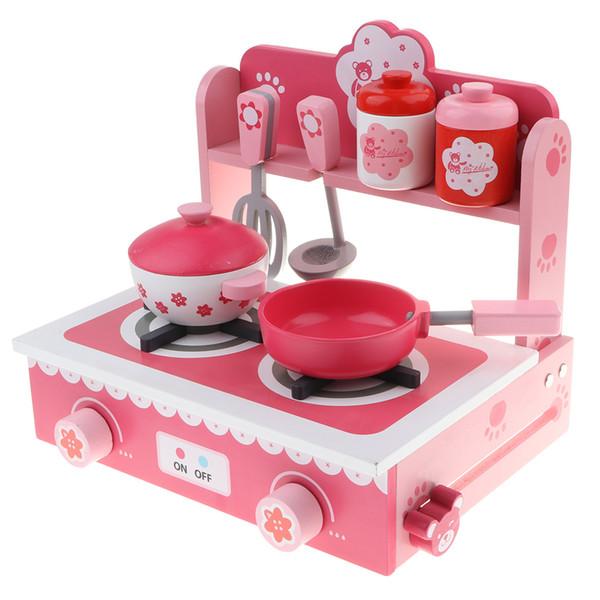 Großhandel Kinder Holz Mini Küche Kleine Gasherd Kinder Phantasie Spiele  Klassische Geschenk Spielzeug Von Windbaby, $67.34 Auf De.Dhgate.Com    Dhgate