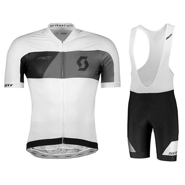 SCOTT équipe cyclisme manches courtes en jersey cuissard ensembles 2019 haute qualité été uniforme de sport de vélo U53135