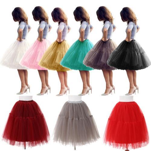 2019 Fluffy pleine Jupe à volants superposés femmes adultes Tutu Tulle Jupe de mariée Jupon de mariage robe de bal