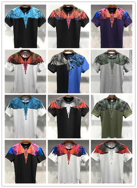New summer brand clothing round neck youth men's short-sleeved printing hip-hop T-shirt 100% cotton fashion men's sports high-end T-shirt