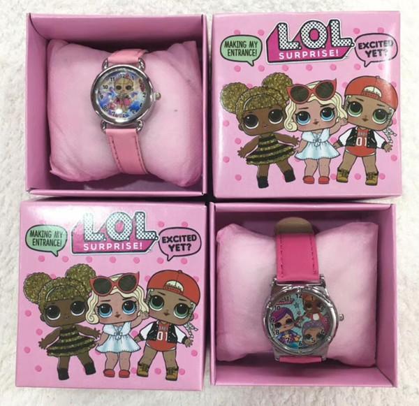 Großhandelslos LOL Überraschungs-Kind-Armbanduhr scherzt Karikatur-Uhren mit Kasten-Geschenken W0012