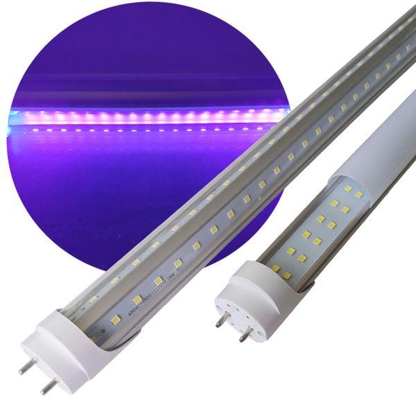 UVA T8 LED Tube Черный свет двойная линия G13 Бар Party Club DJ UV Art / Ультрафиолетовые лучи стерилизатор Glue свет Subzero водить UV GEL Отверждение лампы
