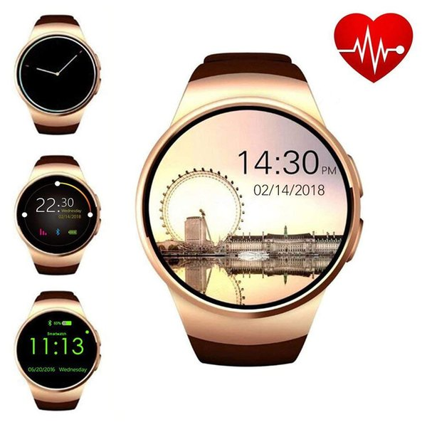 KW18 Bluetooth Smart Watch Round Full Screen Support SIM TF Card Smartwatch Phone Heart Rate for Apple Gear s2 Huawei Xiaomi