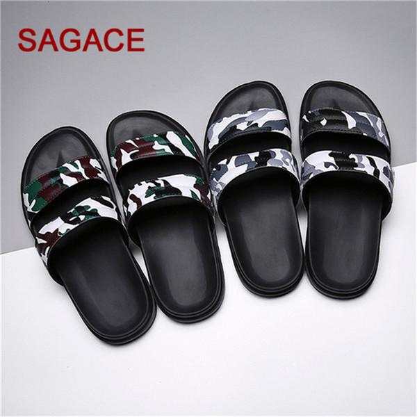 SAGACE Men Summer Beach Вьетнамки Камуфляж обувь Сандалии мужские Трусы плоские туфли Мода Zapatillas де Hombre челнока