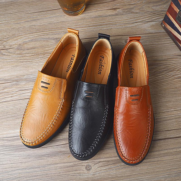 best quality Mens genuine leather Luxury Designer suede loafer official shoes gentle mens dress walk shoe casual comfort breath shoes