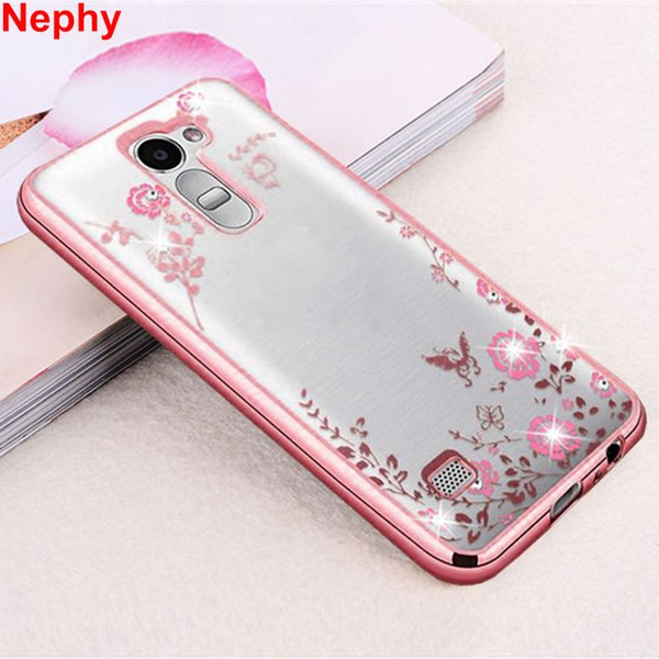 Nephy Case For LG G3 G4 G5 G6 K10 G 3 4 5 6 K 10 Dual Mobile Phone Cover Glitter TPU Silicon Casing Housing Beauty Rhinestone