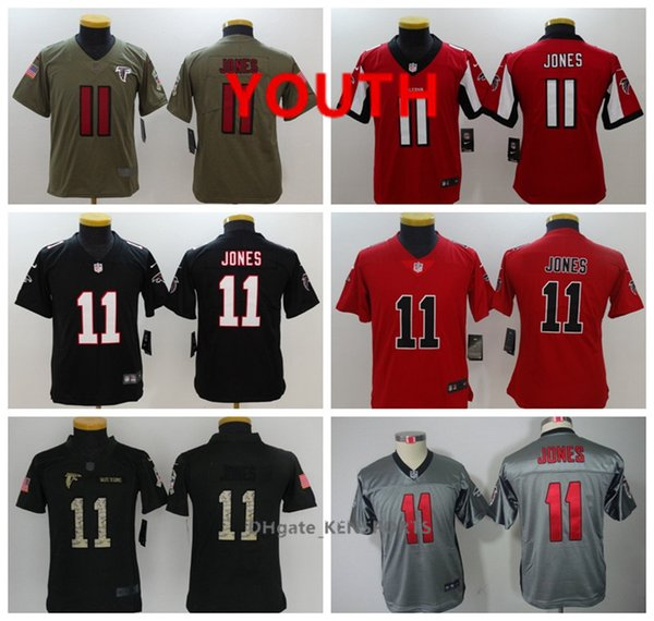 quality design 8f5a5 a6d55 2019 Youth Atlanta Football Falcons Jersey 11 Julio Jones Color Rush All  Stitching Jerseys From Oho05, $22.62 | DHgate.Com