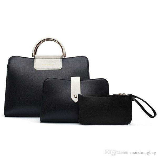 ca191f147ab53 2018 Yeni moda 3 adet set kompozit çanta çantalar bayan çanta tote çanta  marka isimleri çanta