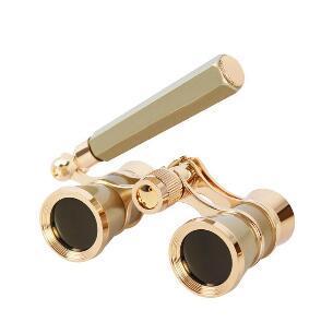 2019 3X25 Ópera Binocular Lente Recubierta Telescopio Ópera Gafas Revestido Teatro Señora de Cristal Manija de Cristal Telescopio Mujeres Niñas Regalos
