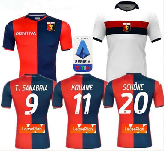 2020 Genoa Cricket maglia da calcio 2019/20 PINAMONTI KOUAME Divisa da calcio per adulti PANDEV Schöne RADOVANOVIC Football Shirt Ragazzi Maglie