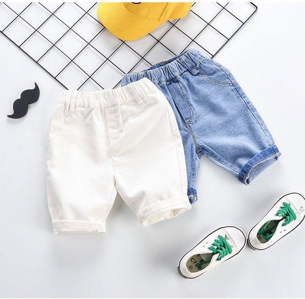Kinder Sommer Casual Hosen 2019 Neue Marke Kinder Einfarbig Jeans Jungen Lose Elastische Taille Hosen Mit Paket Mode Unisex Kleidung