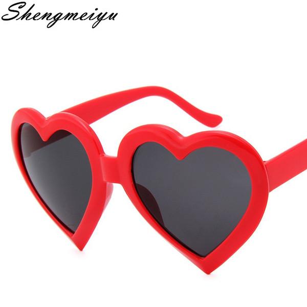 2017 New Fashion Love Heart Shaped Sunglasses Women Brand Designer Eyewear Sun Glasses Mirror Black Sunglass Female UV400