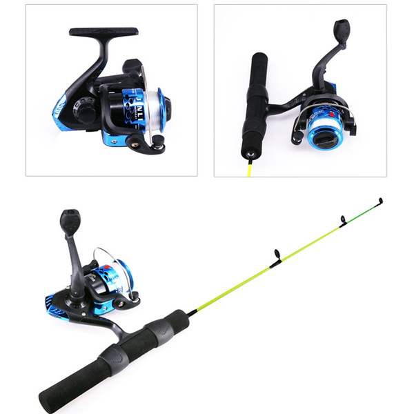 Portable Pocket Winter Ice Fishing Combo of Rod Pen Pole + Reels Lures Tackle Spinning Casting Hard Rod outdoor fishing tackle