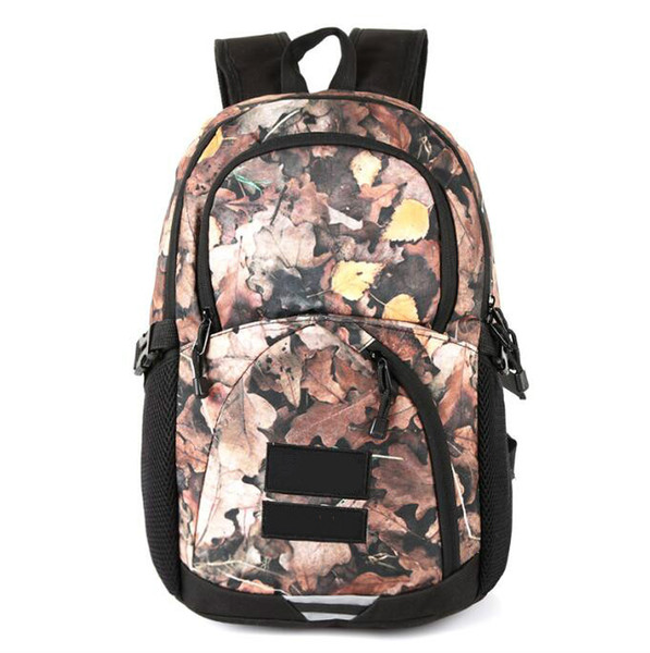 2019 Metal color backpack joint name snow mountain map deciduous backpack bag sports travel bag ins waterproof designer bag