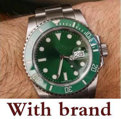 WATCHES Black Ceramic Bezel Dial Stainless Steel Bracelet Automatic 2813 Movement Mens Watch Luminous Wristwatches