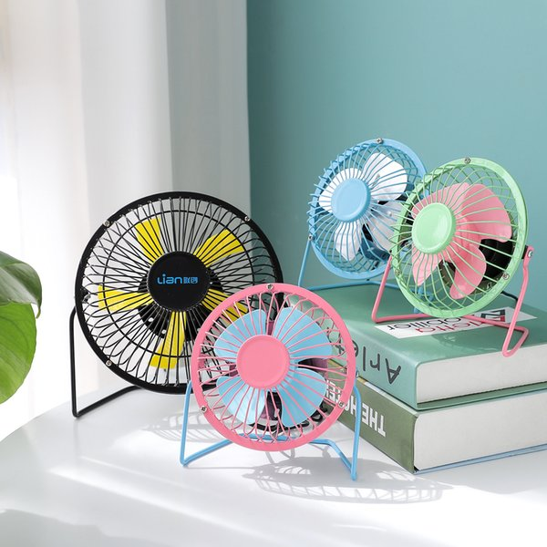 Party Supplies Mini USB Metal Fan 360 Rotate Metel Mute Radiator Fan Portable Cooler Cooling Desktop Electric Fanner For Home Laptop Camping