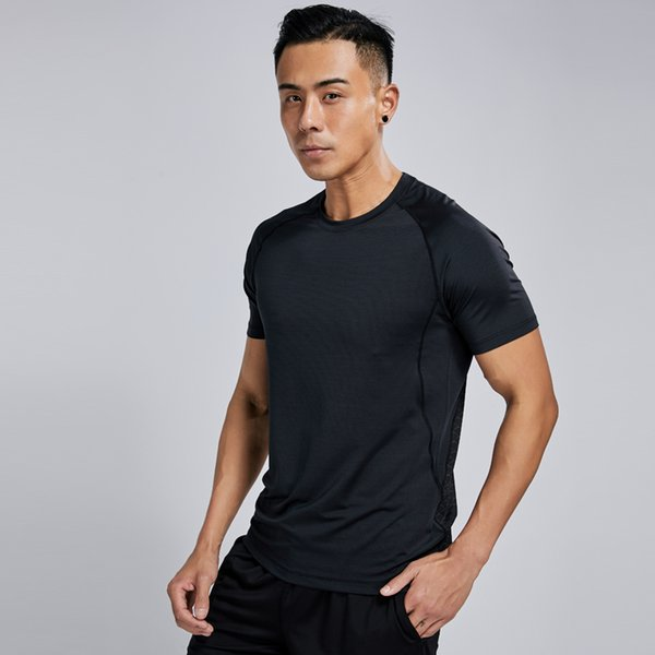 Sports T Shirt Gym Men Compression Quick Dry Outdoor Shirt Breathable Short Sleeve Fitness T Elastic Running Tee