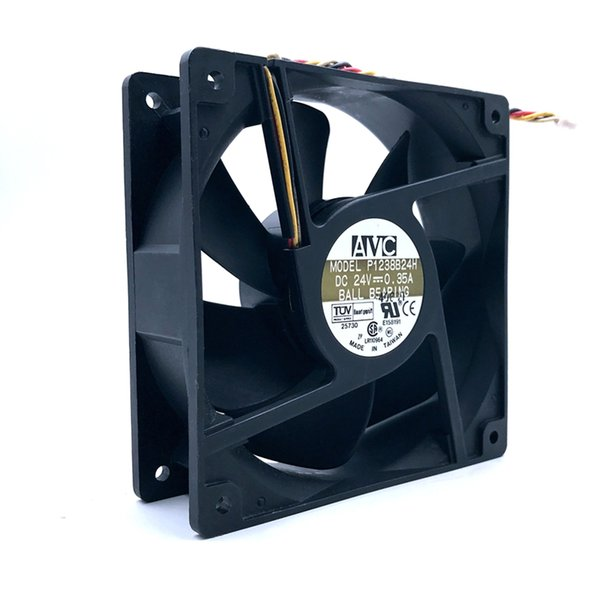 AVC P1238B24H 12038 120mm 12cm DC 24V 0.35A 4Wire 4-pin Computer Case CPU Cooler Cooling Fans