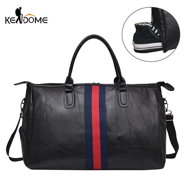 18cc41d05a6e 2019 PU Leather Gym Bag For Men Women Sport Shoes Bag Fitness Over The  Shoulder Large Capacity Yoga Travel Handbags Tas XA22D #455272 From  Feiteng001, ...